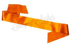 blank sashes orange blank sash