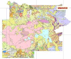 Map Of Yellowstone National Park Unavco Idv Geology Maps And Vertical Cross Sections Software