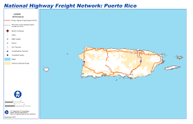 Puerto Rico On Map by National Highway Freight Network Map And Tables For Puerto Rico