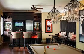 Black Banquette Extra Tall Bar Stools Method Atlanta Traditional Basement
