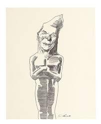 ronald reagan as oscar statue by david levine on artnet