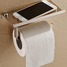 paper holder stainless steel phone toilet paper holder with shelf bathroom mobile