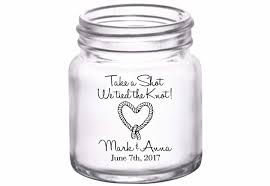 The Knot Favors by Take A We The Knot 3a Custom Mini Glasses
