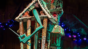 behind the scenes gingerbread house moves into haunted mansion