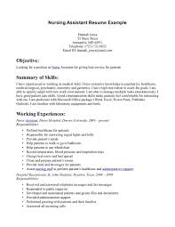 Resume Entry Level Examples by Cool Design Ideas Cna Resume Skills 7 Sample Nursing And