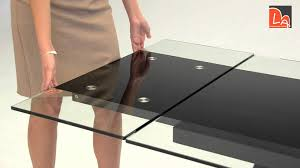 Modern Black Glass Dining Table Modrest Barium Contemporary Black Glass Extendable Dining Table