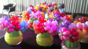 balloon bouquets balloon flowers in vases