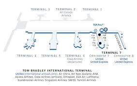 lax gate map lax airport map united airlines