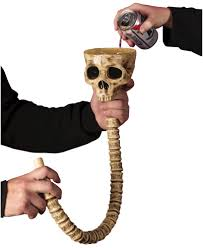 skeleton beverage funnel halloween