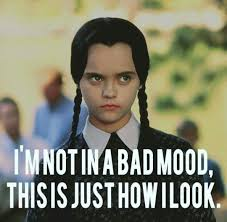 Not Mad Meme - i m not mad wednesday addams funny pinterest wednesday addams