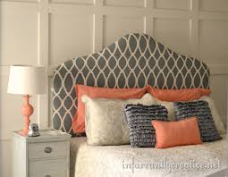 fabric upholstered headboard u2013painted u0026 stenciled diy headboards