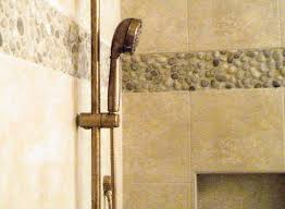 shower renovation with pebble tile accent mississippi u0027s home and