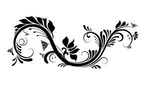 swirl and flowers vector graphic