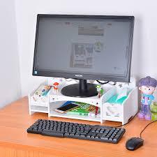 Desk Storage Organizers Funiquecomputer Lcd Stand Increased Shelf Desktop Storage