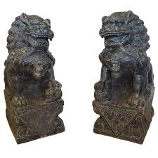 foo dogs for sale large carved granite or foo dogs at 1stdibs
