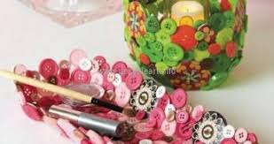 Upcycle Crafts - button crafts upcycle art