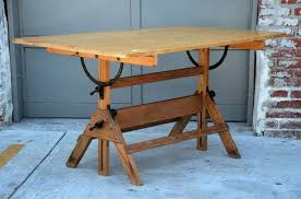 Hamilton Manufacturing Company Drafting Table Vintage Articulated Oak And Maple Drafting Table By Hamilton At