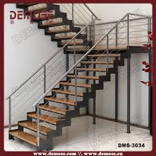 Stainless Steel Stairs Design Customized Wood Tread Stainless Steel Stair Stringers Steel