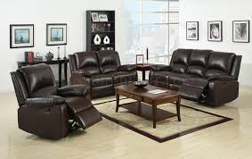 oxford reclining sofa cm6555 in dark brown leatherette w options