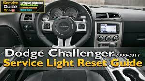 dodge challenger service light reset 2008 2017 youtube