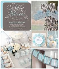 blue baby shower classic baby blue and gray is a simple but chic color combination