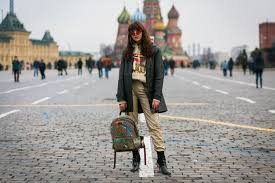 the best street style photos from russia fashion week fall 2017