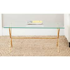 Glass Accent Table Gold Accent Tables Living Room Furniture The Home Depot