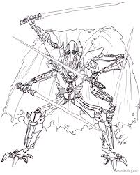 general grievous coloring outstanding lego star wars coloring