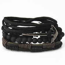 leather bracelet with anchor images Anchor bead leather bracelets bangles bearpop jpg