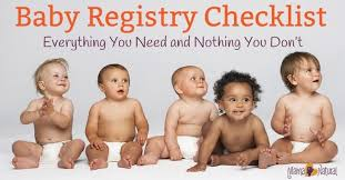 registry for baby shower all baby registry checklist