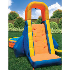 banzai the plunge inflatable water slide and pool walmart com