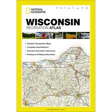 Wi State Map by Wisconsin Recreation Atlas National Geographic Store