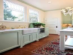 Cottage Kitchen Cupboards - great light blue kitchen rugs blue cottage kitchen cabinets design