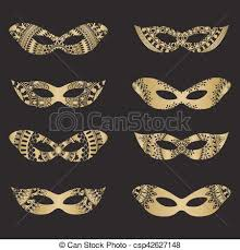 gold masquerade mask gold masquerade mask silhouettes gold color masquerade mask eps
