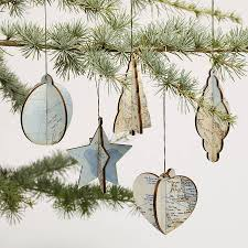 christmas tree decorations vintage map ornaments great idea