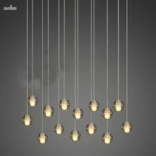 Crystal Light Fixtures Dining Room - 14 meteor shower light hanging spherical led crystal chandelier