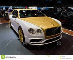 mansory bentley mulsanne mansory bentley flying spur at geneva 2016 editorial stock image
