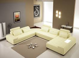 Modern Leather Sectional Sofa Casa 5005b Modern Bonded Leather Sectional Sofa W Ottoman And