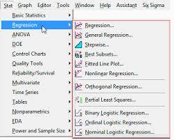 regression analysis tutorial and examples minitab