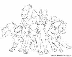 anime wolf coloring pages gekimoe u2022 42601