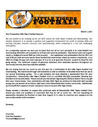 become an ltf sponsor u2013 little tigers football