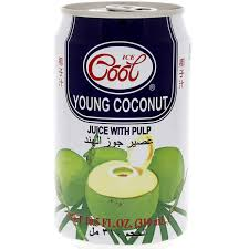 buy ice cool young coconut juice with pulp 310 ml online in uae