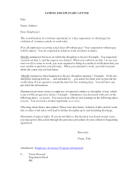 how to write a letter of disciplinary action cover letter templates