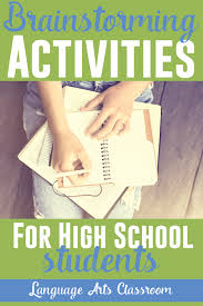 fast brainstorming activities for high language arts