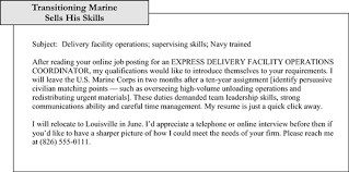 Marine Corps Resume Examples by Sample E Mail Cover Notes That Introduce Resumes Dummies