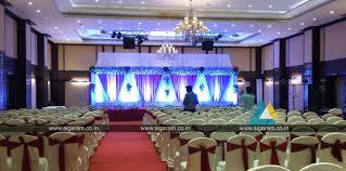 reception stage decoration anandha inn puducherry wedding