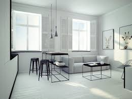 Small Open Plan Home Interiors - Minimalist apartment design