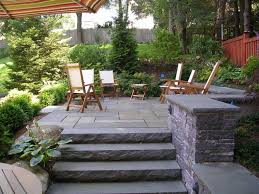 backyard stone patio designs 1000 ideas about stone patios on