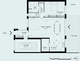 plan maison en l plain pied 3 chambres plan maison plain pied lovely plan maison 3 chambres