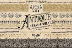 antique borders and ornaments objects creative market